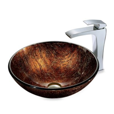 Vigo Kenyan Twilight Vessel Sink and Faucet