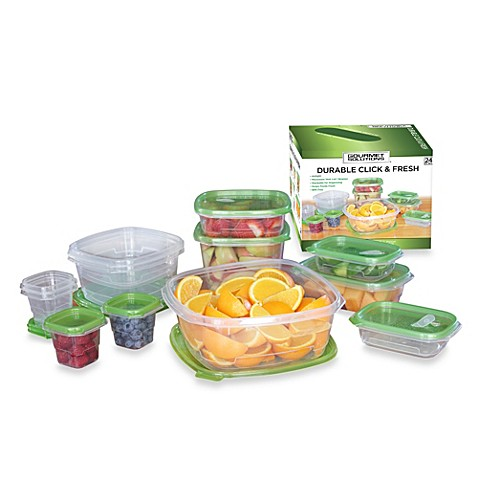 Click & Fresh™ 24-Piece Assorted Food Storage Containers