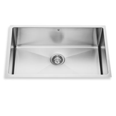 VIGO 30-Inch Single-Bowl Stainless Steel Undermount Kitchen Sink