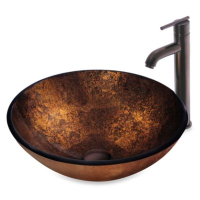 Vigo Atlantis Vessel Sink With Faucet