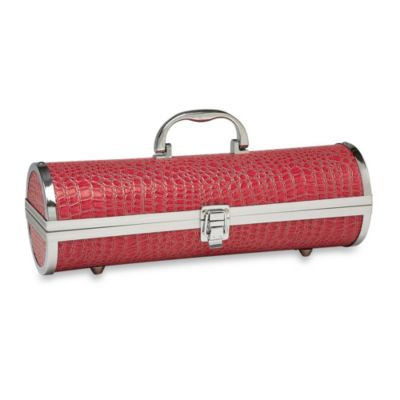 Croc Wine Purse in Pink