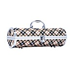 Tan Plaid Wine Purse