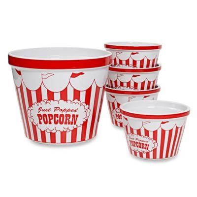 Circus Popcorn 5-Piece Stoneware Set