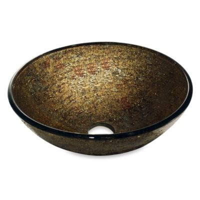 VIGO Textured Copper Glass Vessel Sink