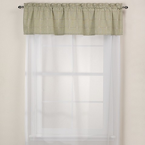 Park B. Smith Durham Square Kitchen Window Valance in Sage