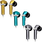DEOS In-Ear Aluminum Headphones w/Swarovski Elements & Microphone