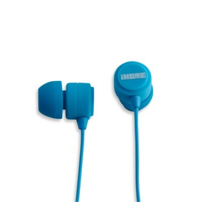 iHome® Rubberized Noise Isolating Earphones w/Pouch in Blue