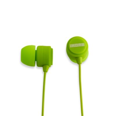 iHome® Rubberized Noise Isolating Earphones w/Pouch in Green