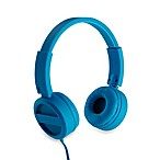 iHome® Rubberized Headphones with Padded Adjustable Headband and Flat Cable in Blue