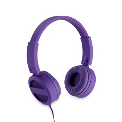 iHome® Rubberized On-Ear Headphones in Purple