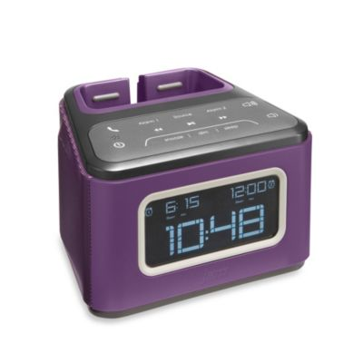 HMDX® JAM Zzz™ Bluetooth Alarm Clock in Purple