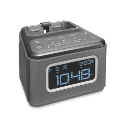 HMDX® JAM Zzz™ Bluetooth Alarm Clock in Grey