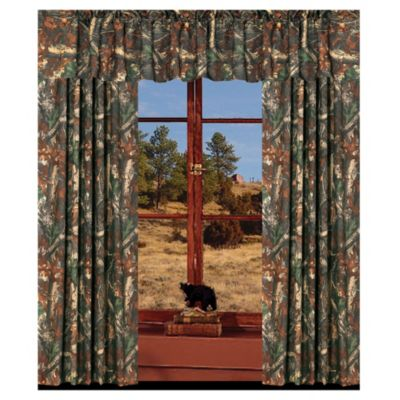 Oak Camo Window Valance