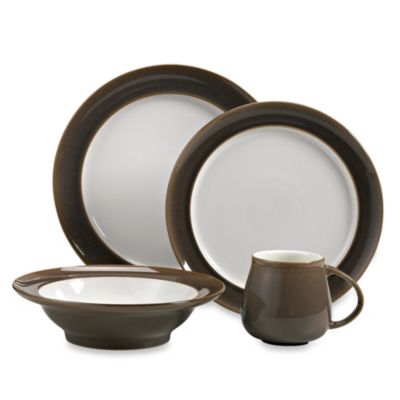Denby Truffle 4-Piece Place Setting