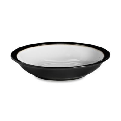 Denby Jet Rim Soup Bowl in Black/White