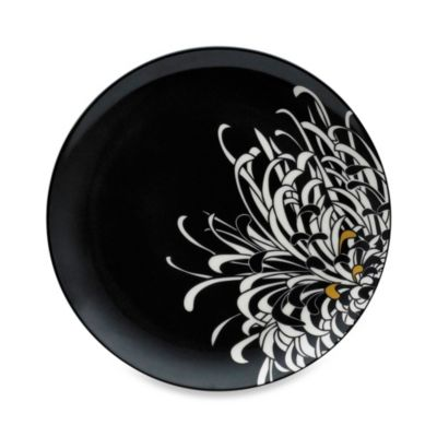 Denby Monsoon Chrysanthemum 8 3/4-Inch Charcoal Salad Plate