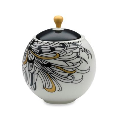 Denby Monsoon Chrysanthemum 11-Ounce Sugar Bowl