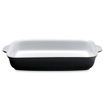 Denby Jet 2.6-Liter Oblong Dish in Black/White