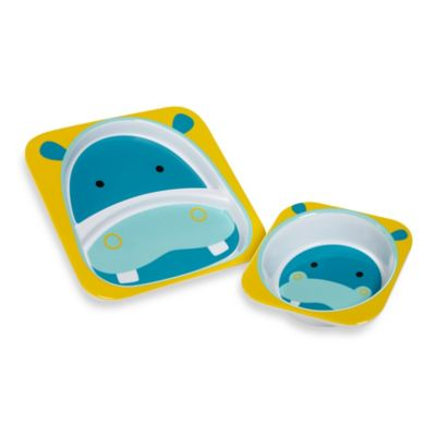 SKIP*HOP® Zoo Hippo Melamine Plate and Bowl Tableware Set