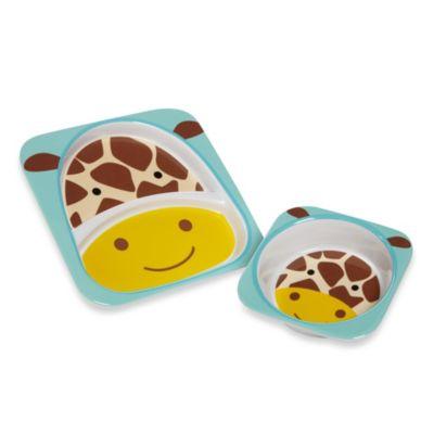 SKIP*HOP® Zoo Giraffe Melamine Plate and Bowl Tableware Set