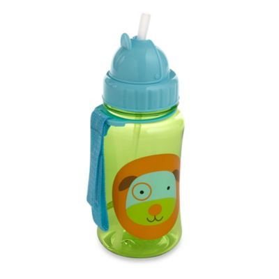 Green Straw Bottle