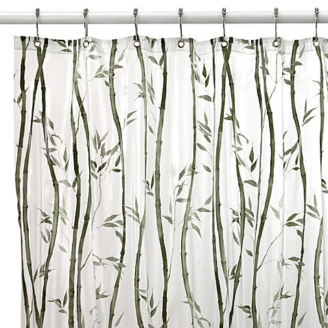Bamboo Vinyl 70-Inch W x 72-Inch L Shower Curtain