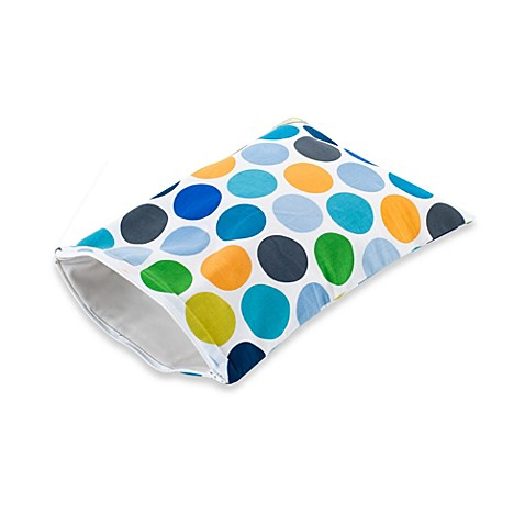 Itzty Ritzy® Travel Happens™ Sealed Wet Bag in Big Top Dot