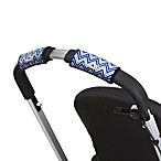 CityGrips Single Handlebar Stroller Grip Covers in Chevron Blue