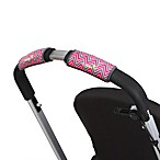 CityGrips Single Handlebar Stroller Grip Covers in Chevron Pink