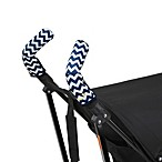 CityGrips Double Handlebar Stroller Grip Covers in Chevron Navy