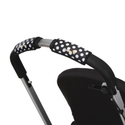 CityGrips Single Handlebar Stroller Grip Covers in Black/White Polka Dot