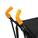 CityGrips Double Handlebar Stroller Grip Covers in Neon Orange