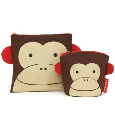SKIP*HOP® Zoo Reusable Sandwich + Snack Bag Set in Monkey