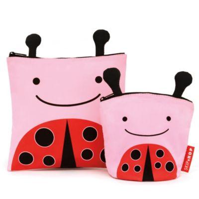 SKIP*HOP® Zoo Reusable Sandwich + Snack Bag Set in Ladybug