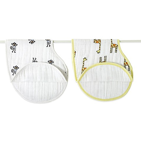 aden® by aden + anais® 2-Pack Burpy Bib in Jungle Jam