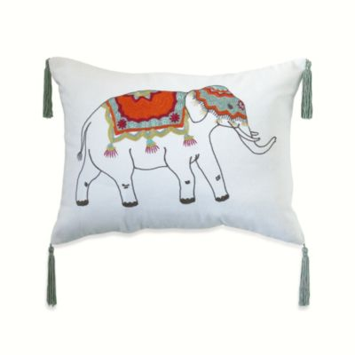 Anthology™ Bungalow Embroidered Oblong Toss Pillow