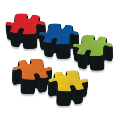 Two-Toned Plush Puzzotto™ Ottomans