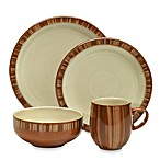 Denby Fire 4-Piece Place Setting in Stripe