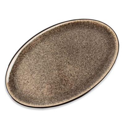 Denby Praline 16-Inch Oval Platter