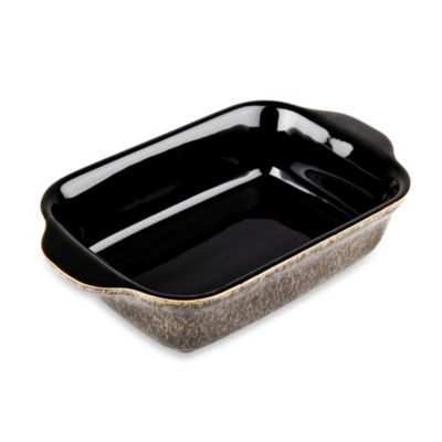 Denby Praline Small Oblong Dish in Dark Brown