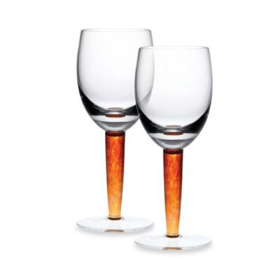 Denby Fire Glassware 10.5-Ounce Red Wine Glass (Set of 2)
