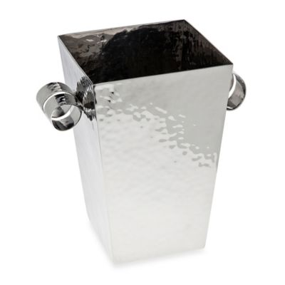 Ricci® Argentieri Stainless Steel Hammered Ice Bucket