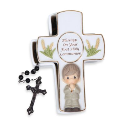 Precious Moment® Blessings On Your First Holy Communion Boy Rosary Box With Rosary