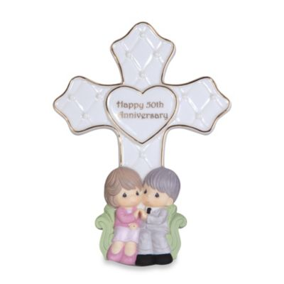 Precious Moments® 50th Anniversary Cross Figurine