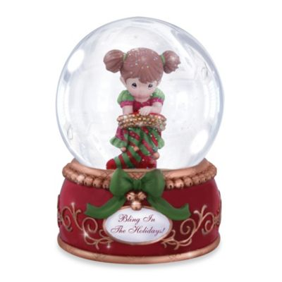 Precious Moments® Bling in the Holidays Musical Water Globe