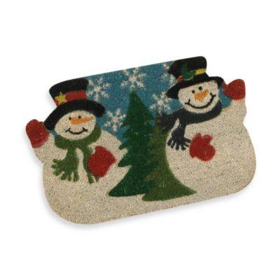 Snowman Coir Door Mat