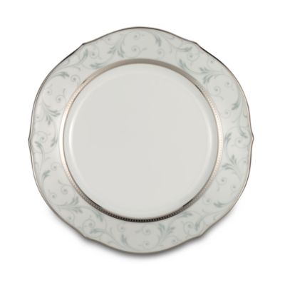 Noritake® Regina 9-Inch Scalloped Accent Plate in Platinum