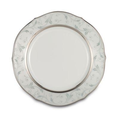 Platinum White Dinnerware Plates
