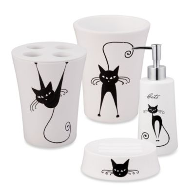 Contemporary White Bathroom Toothbrush Holder and Tumbler