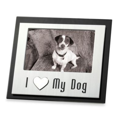 I Love My Dog 4-Inch x 6-Inch Pet Photo Frame